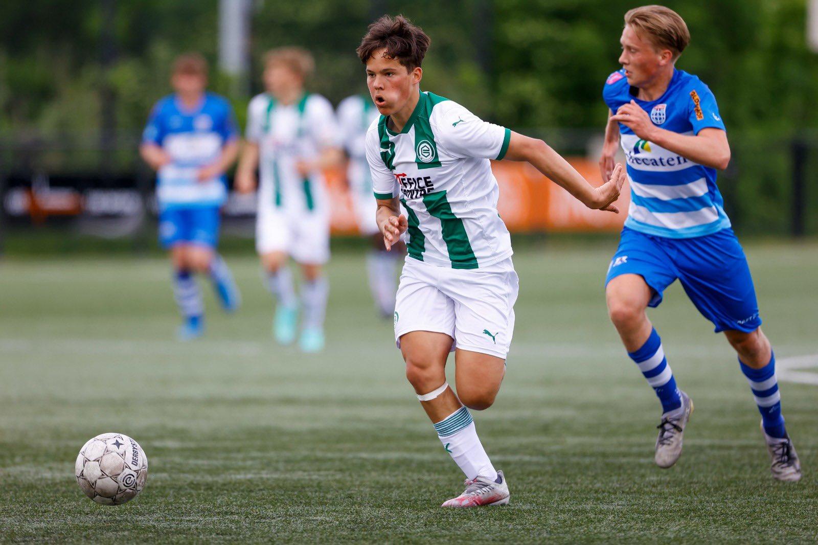 FC Groningen o18 speelde eindelijk weer een wedstrijd op Corpus den Hoorn.