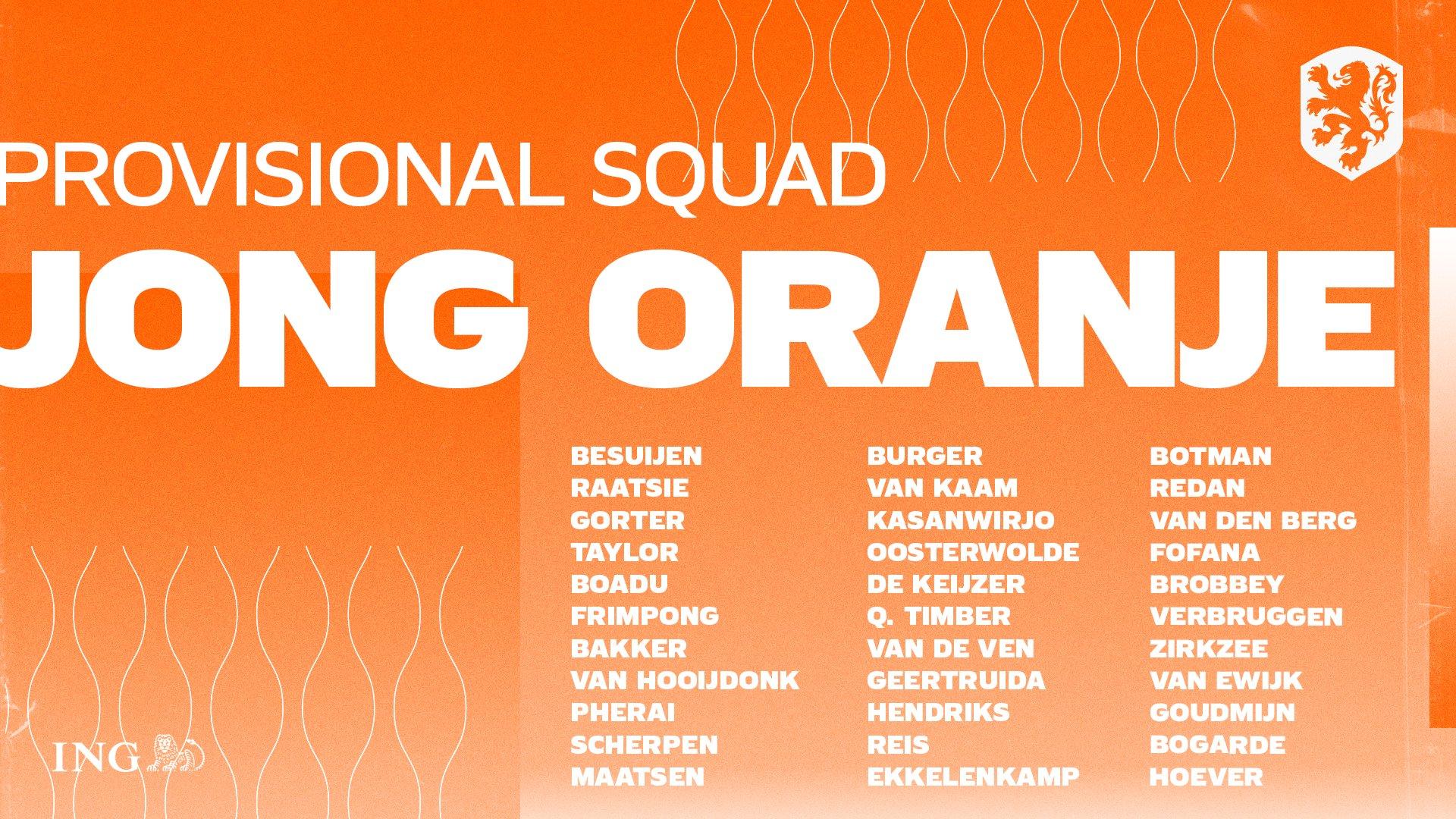 Neraysho Kasanwirjo en Daniel van Kaam in voorselectie Jong Oranje