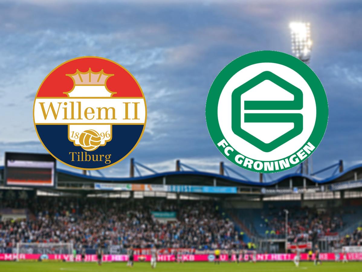 FC Groningen verliest in Tilburg na weer een hele slechte 1e helft. Rood voor Cyril Ngonge