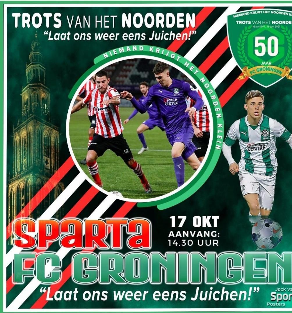 FC Groningen snoept punt mee vanaf het Kasteel.